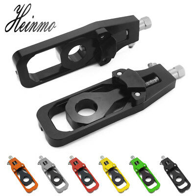 Left & Right Axle Spindle Chain Tensioner Adjuster Blocks for Kawasaki Z900 2017