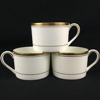 Set of 3 Vintage Tea/Coffee Cups by Coalport Connoisseur Gold England Retired
