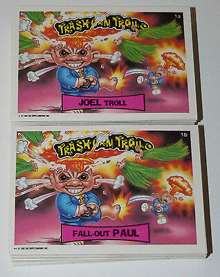 . Trash Can Trolls Series 1 - 1992. COMP 88 sticker set like Garbage Pail Kids