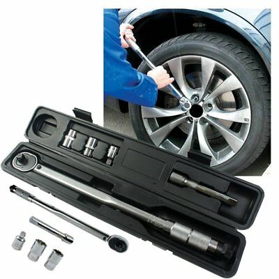 1/2 Inch 28 to 210nm Click Torque Wrench Bike Repair Five Spanner Tool Set DST