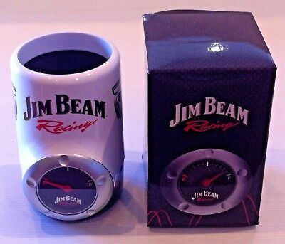 Jim Beam Racing Fuel Gauge Stubby Can Holder - New In Box