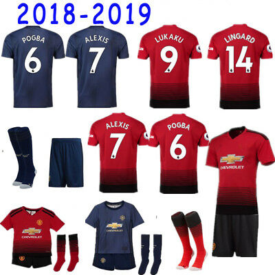 18-19 Football Kits  Training Shirts Suits Soccer Jersey For Adults Kids 3-14YRS