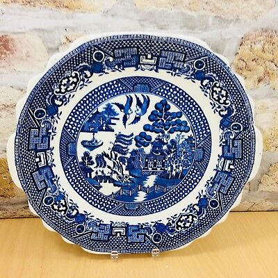 Vintage Swinnertons Old Willow Large Plate 23.5Cm Blue And White