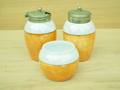 Vintage Old China Salt & Pepper Shakers & Cruet Pot Set 'x3' (L120)