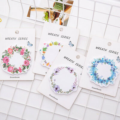 Beautiful Wreath Memo Pad Sticky Notes Memo Notepad Bookmark Paper Stickers