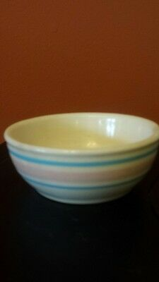 McCOY #5 PINK AND BLUE STRIPE BOWL
