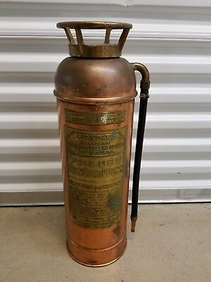 Antique Copper Miller-Peerless Copper Fire Extinguisher