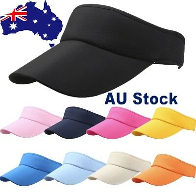 Men Women Ladies Girls Sport Headband Classic Hat Casual Sports Visor Sun Cap AU