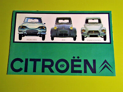 Citroën 2 Cv, Ami 6 Break, Dyane 6 & 8: Catalogue Brochure Doc Commerciale 02/69