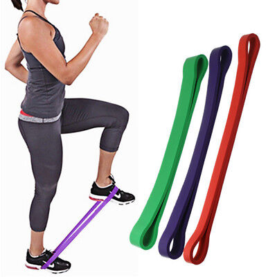 3 size Yoga Workout Power Gym Fitness Heavy Duty Resistance Band Loop Exercise
