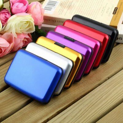 Women Men Waterproof ID Credit Card Wallet Holder Aluminum Metal Pocket Case AZ