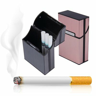 Light Cigarette Cigar Case Pocket Container Aluminum Tobacco Storage Holder AS