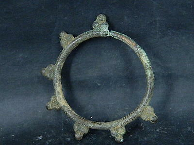 Ancient Bronze earing Islamic 1300 AD #BR1427