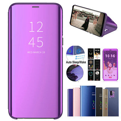 360 Clear View Full Case for Huawei P20 Pro/Lite Flip Leather Mirror Phone Cover