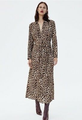 Zara Long Leopard Print Dress Animal! Size SMALL! Sold Out Bloggers Fave! New!