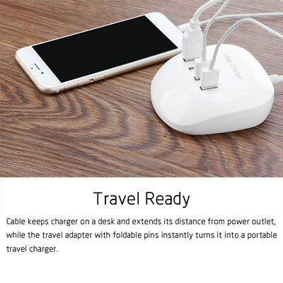4-Port 3.4A 77W USB HUB Phone Desktop Charger Fast Charging Station Adapter AZ