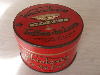 Vintage Collectable 'mackintosh's''  Red Toffee Confectionary Tin