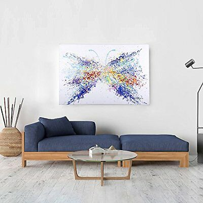 Modern Home Decor Canvas Art Butterfly Wall Abstract Hand-Painted Oil Painting
