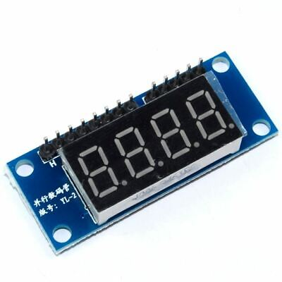 4 Digit Red 7 Segment Parallel LED Module 4-bit Arduino PI Flux Workshop