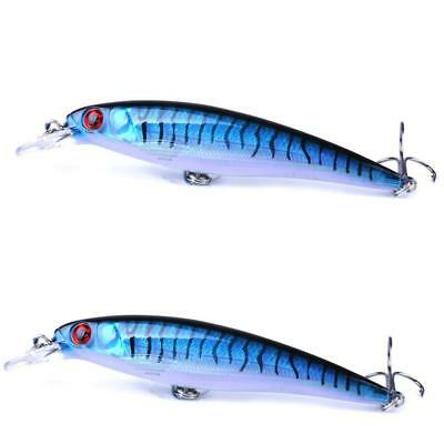 10 Colors Fishing Minnow Fishing Lures Baits Tackle Bass Outdoor Fishing_2018P