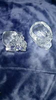 Crystal Head Vodka Skull Shot Glass (New Set of 2 Glasses without box )