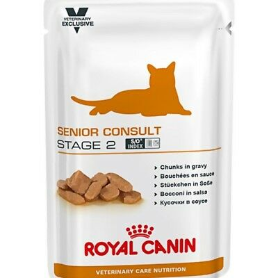 LOT 4 x 12 SACHETS Royal Canin Chat Senior Consult Stage 2 Vet Care pâtée 100g