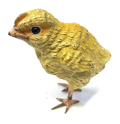 Antique Austrian Cold Painted Bronze Chick Baby Chicken In The Style Of Bergman