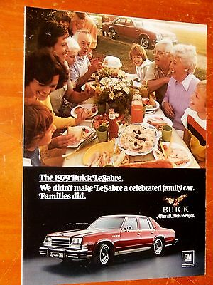 Beautiful 1979 Buick Lesabre 4 Door Sedan In Red Ad -  American Family Car 1970S