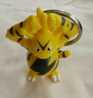 1999 Burger King Kids' Meal Toy Pokemon Movie Electabuzz Keychain
