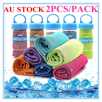 2ps Instant Cooling Towel ICE Cold Golf Cycling Jogging Gym Sports Outdoor TOWEL