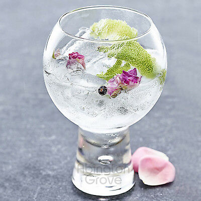 New Single 540ml Large Gin & Tonic Glass With Bubble Stem Cocktail Balloon
