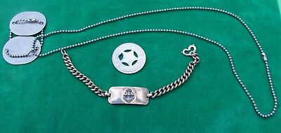WW II US Navy Naval USNR Reserve Soldier id Dog Tag Bracelet USS Arequipa token