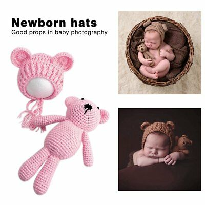 Newborn Baby Boy Girl Photography Prop Outfit Photo Knit Crochet Clothes AS