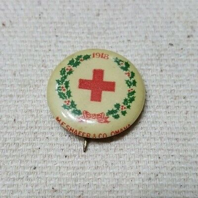 1917 Christmas Roll Call button of the American Red Cross