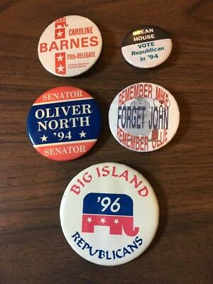 Vintage. Remember Mike, Remember Ollie, Forget John. Unique Political Buttons