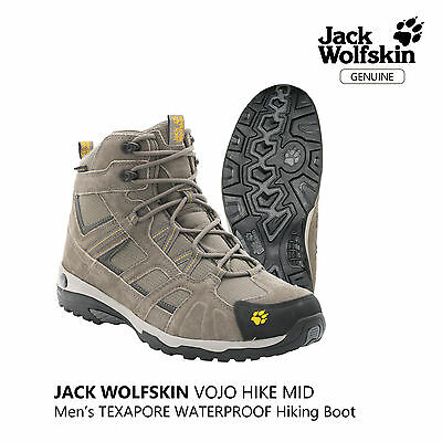 7eadfca0d30 JACK WOLFSKIN VOJO Hike Mid Texapore Men's Waterproof Hiking Boot
