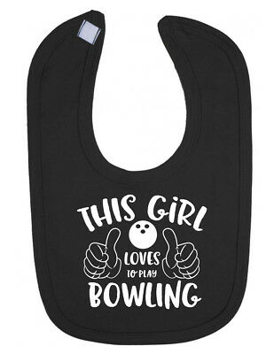 This Girl Loves to Play Bowling White 10oz Novelty Gift Mug Cup