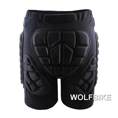 WOLFBIKE BC305 Short de protection antidérapant ski, vélo, patinabe, cross, NOIR