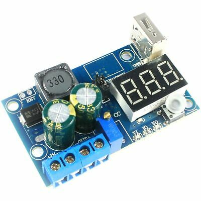 LM2596 Step Down Adjustable Supply DC-DC Voltmeter Arduino Flux Workshop