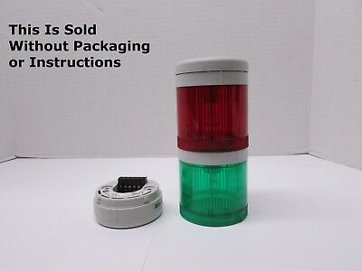 "Allen Bradley 855TC-D10D3D4, 120V AC/DC, Red, Green Stack Light, 1/2"" NPT"