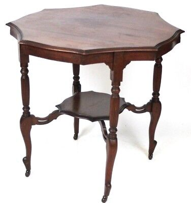 Edwardian Mahogany Octagonal Occasional Table - FREE Delivery [PL1827]