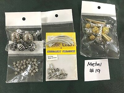 Metal or Metal Look Jewellery Making Findings - Mixed Pack of 5 - #19