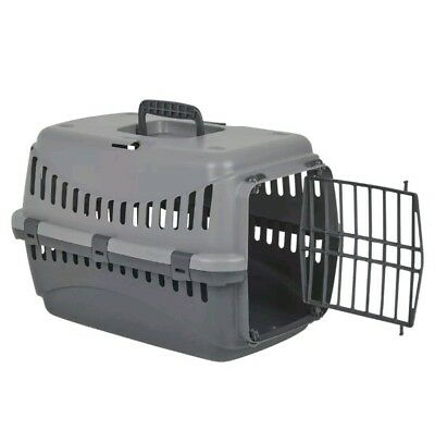 + Cat Dog Pet Carrier Basket Portable Travel Kennel Vet Travel Toilet Box 18,2