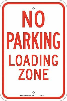 """Parking, No Parking, Fiberglass, 18"""" x 12"""", With Mounting Holes, not reflective"""