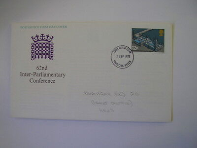 GB First day Cover, 62nd Inter-Parliamentary Conference 1975