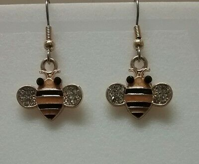 adorable honey bee dangle earrings