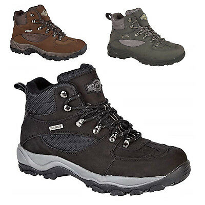 d9826de8ad9 Mens Northwest Territory Hiking Walking Waterproof Real Leather Shoes Size  6-13