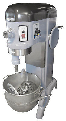 Hobart H600 H-600 60QT Mixer W/ Hook, Paddle, Whisk Bakery Dough Three Phase