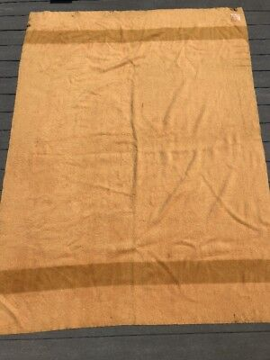 Vintage Hudson's Bay Point 100% Wool Blanket 68 x 90 Inches