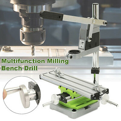 Mini Multi Working Table Milling Machine Bench Drill Vise Worktable Kits Tools